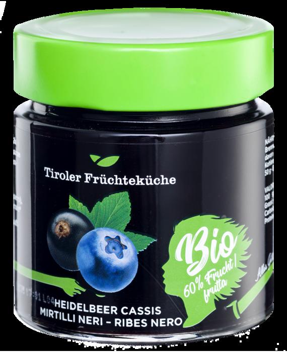 Heidelbeer-Cassis Bio Fruchtaufstrich