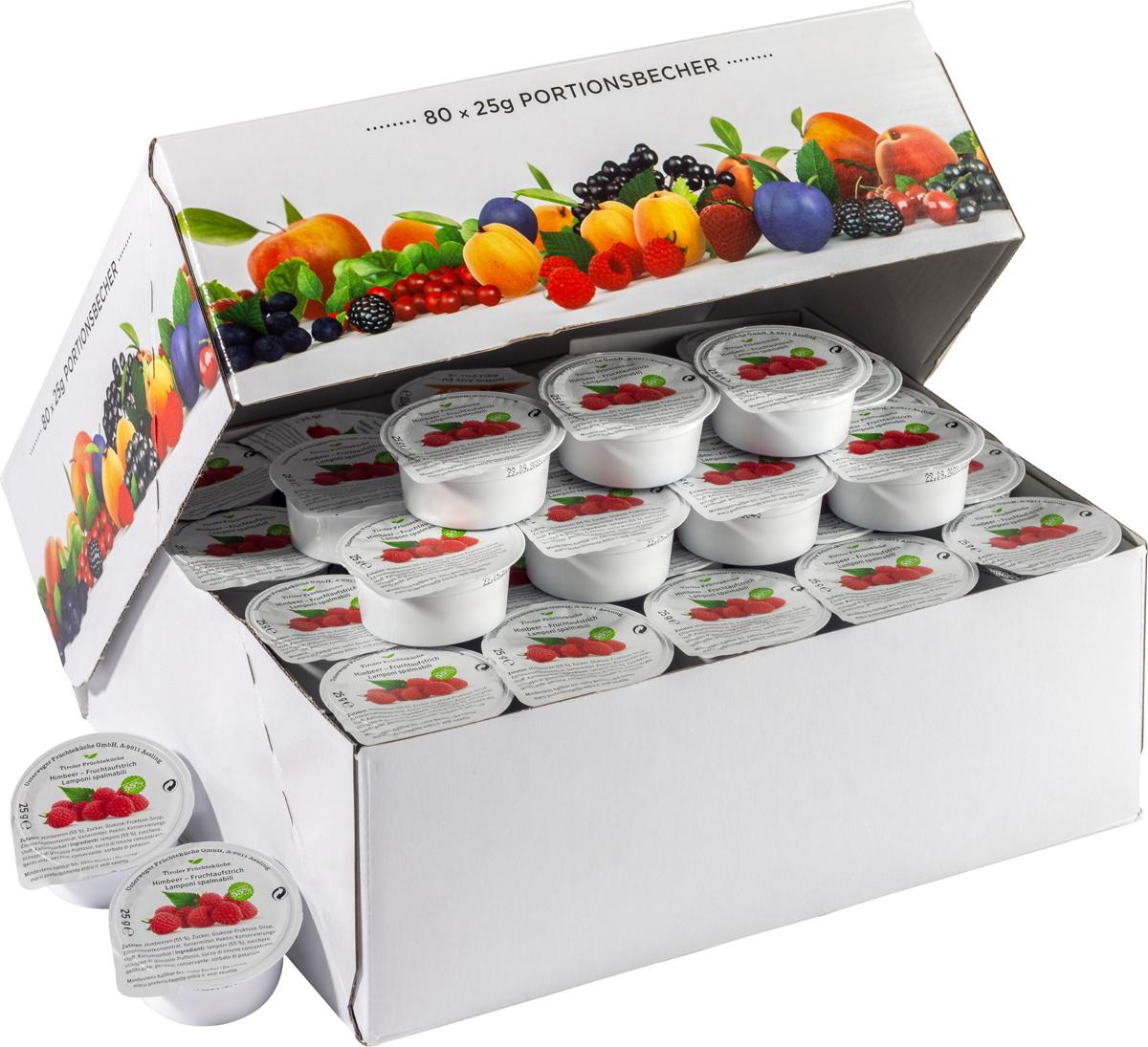 Himbeer Fruchtaufstrich im Portionsbecher - Karton zu 80 Stk