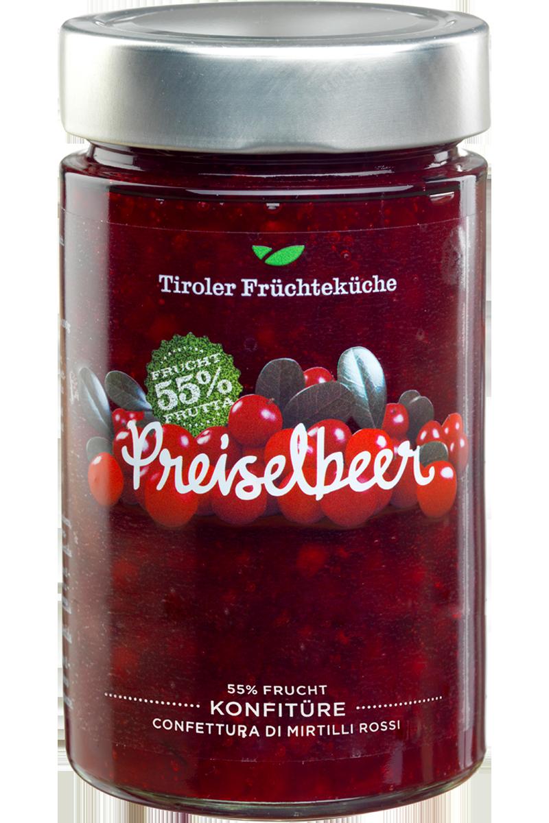 Preiselbeer Konfitüre 800 g Glas