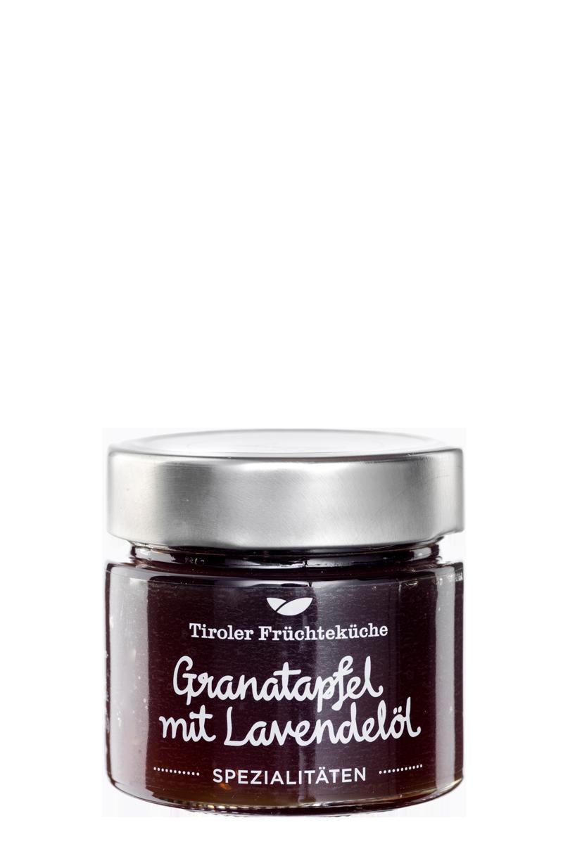 Granatapfel Fruchtaufstrich mit Lavendelöl