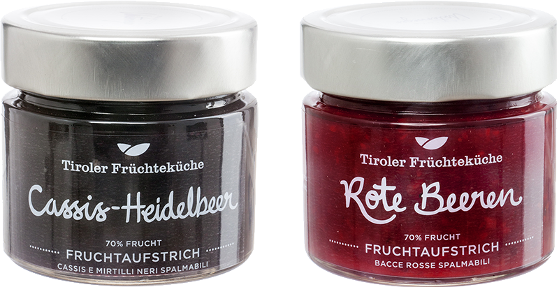 New to the range! Red berries and Cassis-Blueberry fruit spread